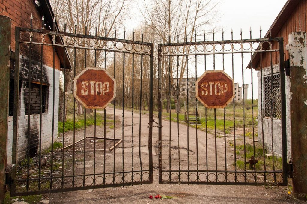 latvia-skrunda-1-abandoned-soviet-secret-town-gate-entrance