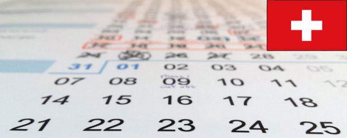 Calendario Svizzero.Schweizer Kalender Calendrier Suisse Calendario Svizzero